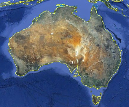 Australia, Google Earth kuva