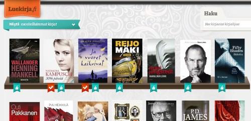 Luekirja.fi, e-kirjojen kuukausitilauspalvelu