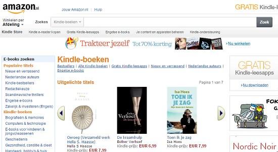 Amazon Netherlands, Kindle Store