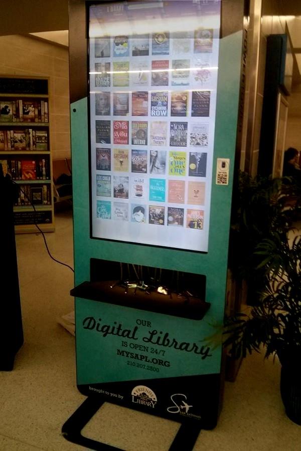 San Antonio, lentokentän e-kirja-automaatti