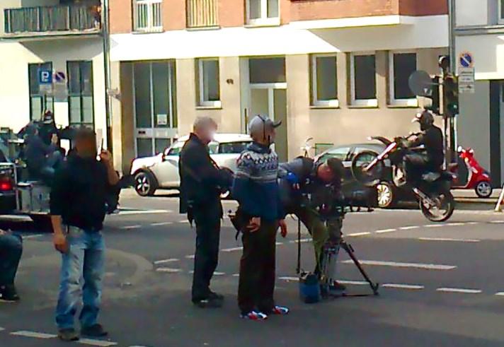 Stunt-kuvaukset, Köln. Kuva HP Virkki.