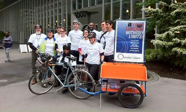 kirjasto Seattle USA, polkupyörä