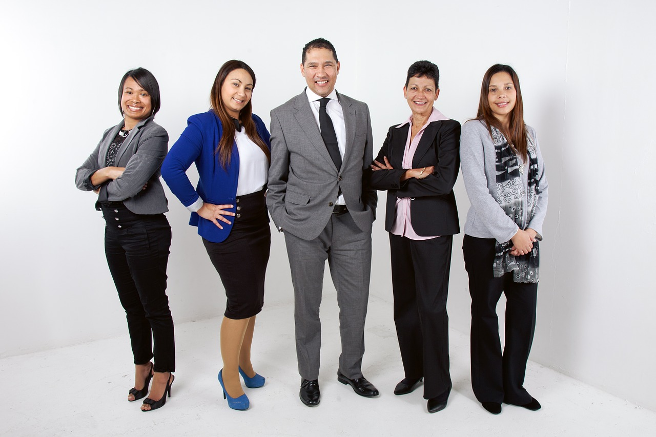 team of office workers
