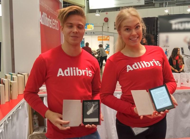 adlibris Letto lukulaite myyjät Helsingin kirjamessuilla 2015