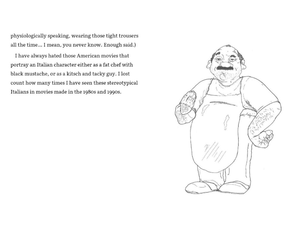 italialainen mies, kirjasta Spaghetti and Sauna