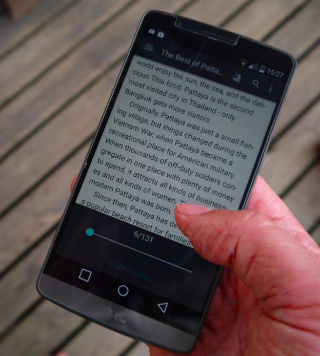 lg g3, fbreader e-kirjojen lukuohjelma