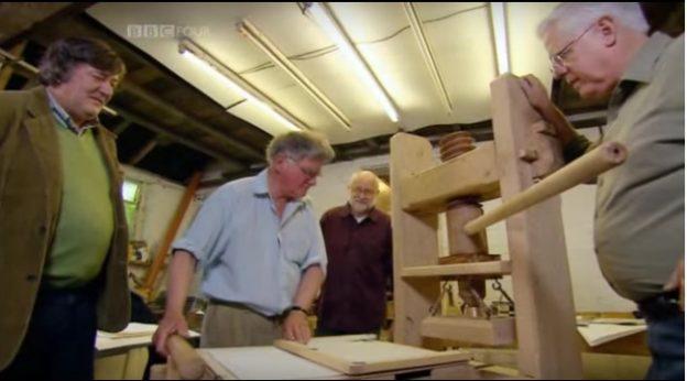 stephen fry, gutenberg painokone, BBC