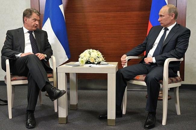 presidentit Niinistö ja Putin