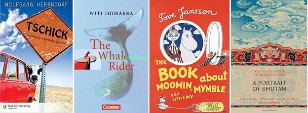 kirjojen kansikuvia, 4 suurlähettiläiden suosittelemaa