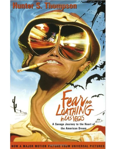 Fear and loathing in Las Vegas, Hunter S Thompson. Kirjan kansikuva