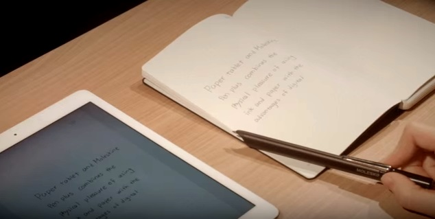 Moleskine Smart Writing muistikirja, kynä ja tablet-sovellus
