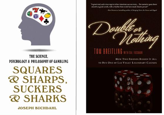 kaksi kirjan kansikuvaa rahapeleistä