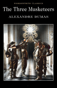 klassikkokirjan kansi: three musketeers