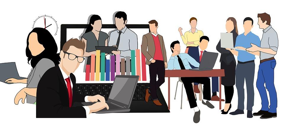 toimisto clip art, rento hetki työntekijöillä