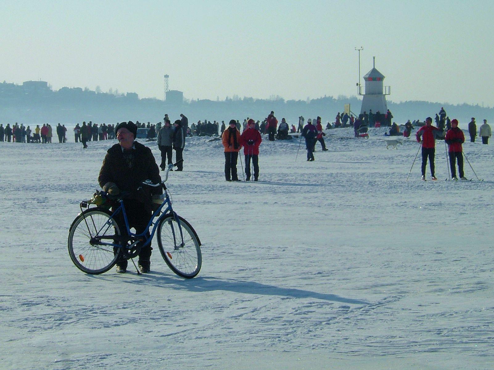 Tampere, Näsijärvi talvella