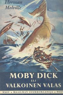 Moby DIck kirjan klassikko-kansikuva