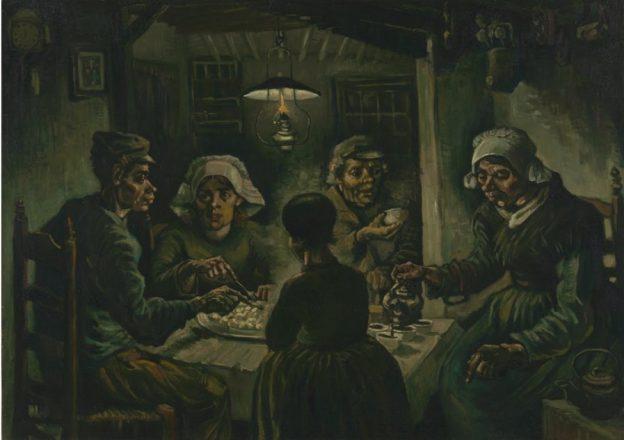 Van Gogh taulu: Perunansyöjät. Van Gogh Museum, Amsterdam (Vincent van Gogh Foundation)