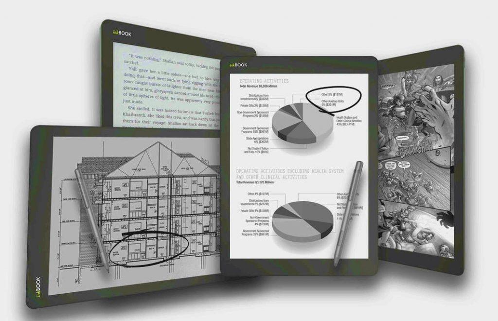Inkbook Infinity 10.3 tuuman lukulaite, kynällä kirjoitus
