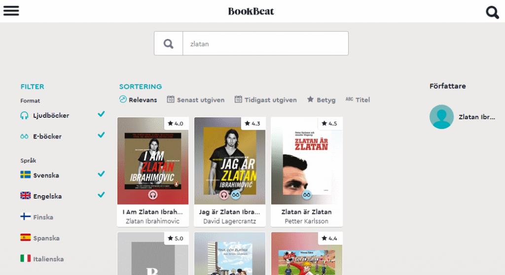 Bookbeat: äänikirja ja e-kirjavalikoimaa