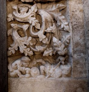 La Lonja ovi koristekaiverrus, Valencia, Espanja
