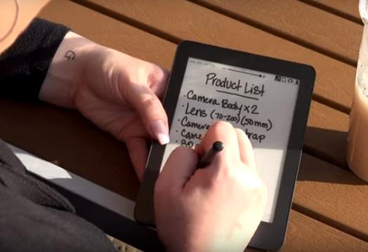 kynällä kirjoitus Mobiscribe laitteen näytölle