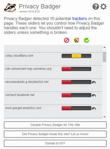 provacy badger yksityisyyden suoja plugin