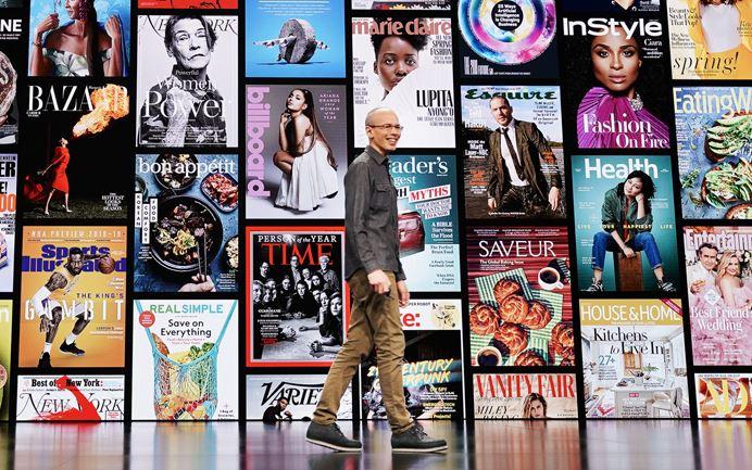 Apple News+ aikakauslehti, sanomalehti uutispalvelu julkistustilaisuus