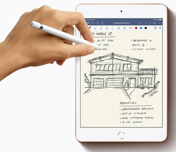 apple ipad mini 2019 malli, kynällä piirtäminen ja kirjoittaminen
