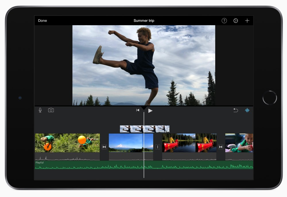apple ipad mini 2019, videoeditointi app