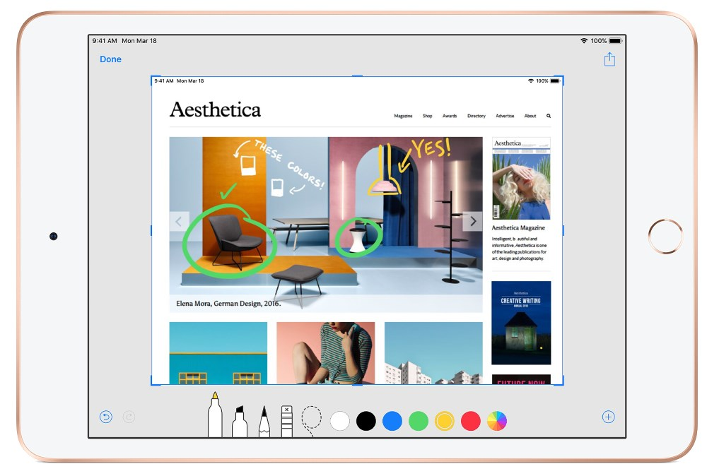 apple ipad mini 2019 malli, kynäpiirros valokuvalle