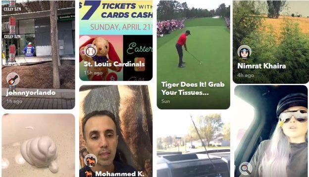 snapchat-palvelun etusivu
