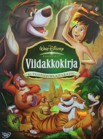 viidakkokirja elokuvan juliste, dvd kansikuva