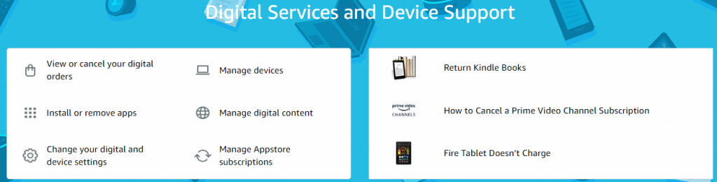 digital products stored on amazon account
