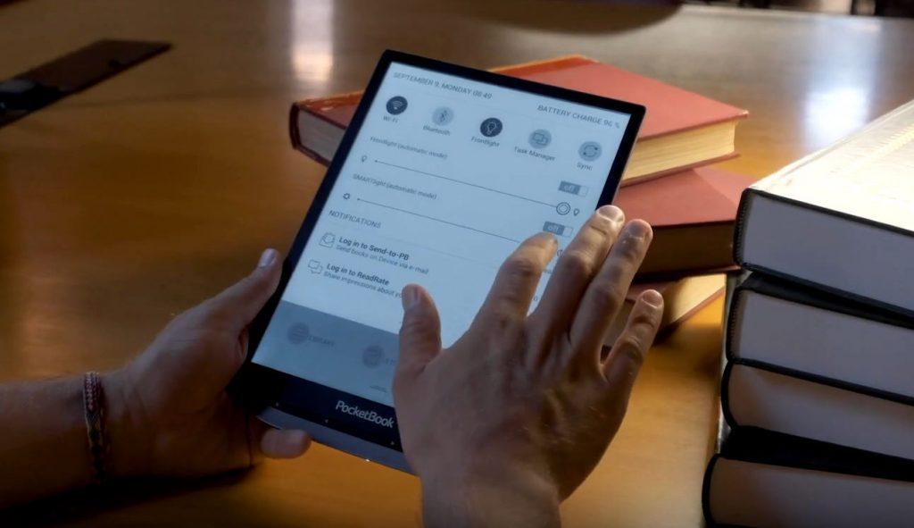 pocketbook inkpad x 10 tuuman kokoinen e-kirjojen lukulaite, äänikirjojen kuuntelu