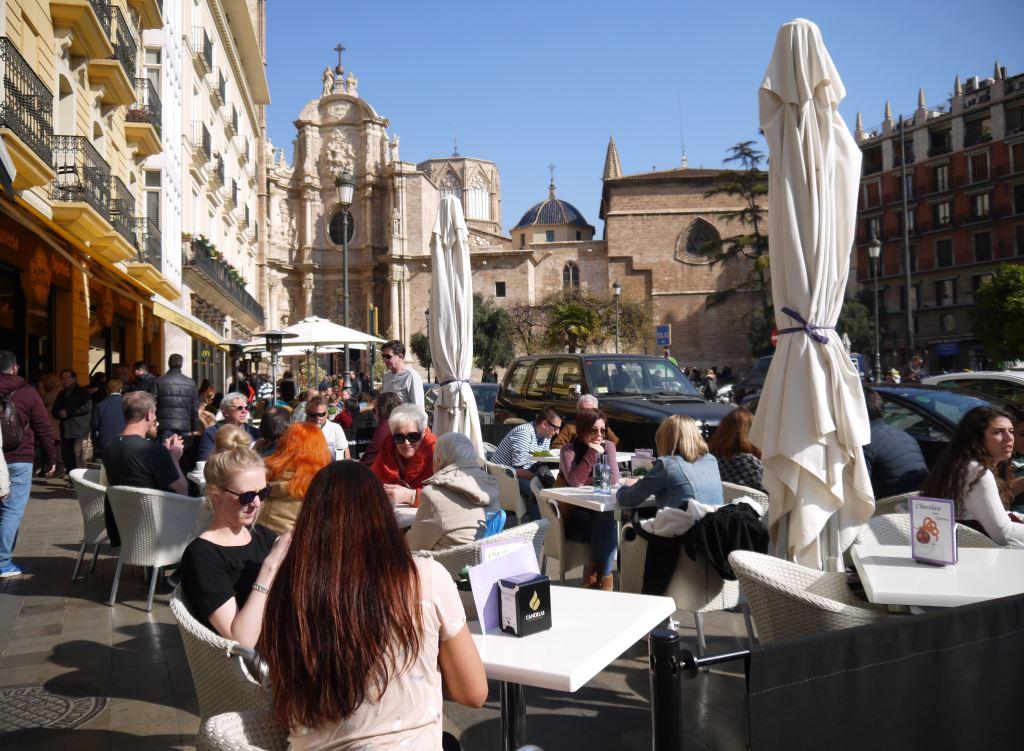 Valencia, Espanja, Plaza de la Reina ja Katedraali