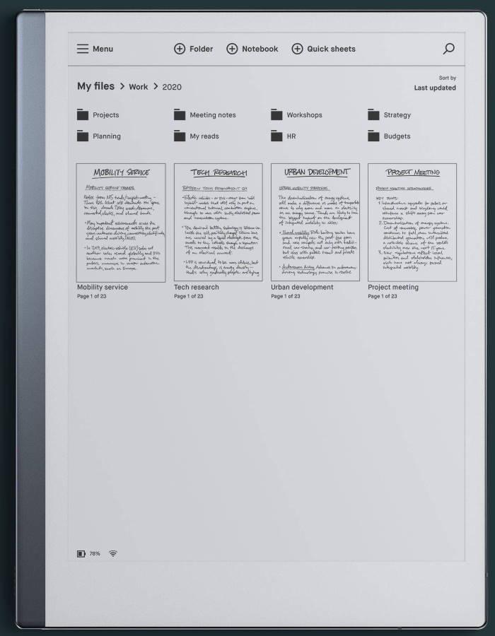 remarkable2 kynällä kirjoitetuille asiakirjoille, dokumentit