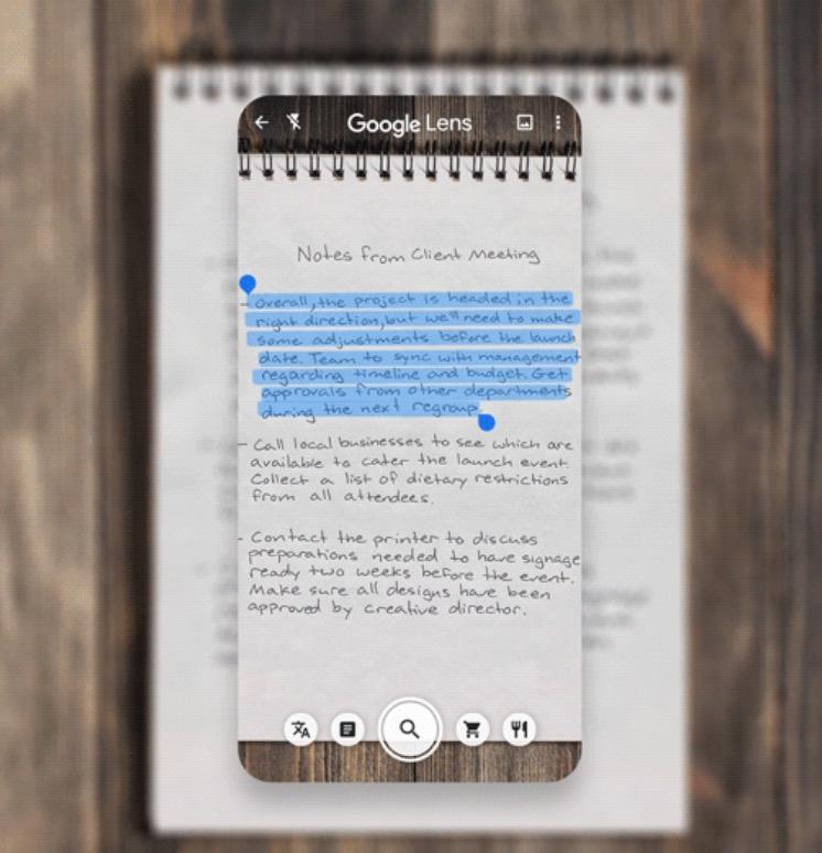 google lens app puhelimessa lukee käsinkirjoitetun tekstin, muuttaa tietokone tekstiksi