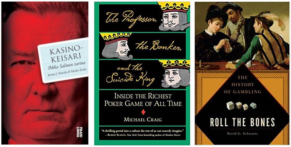 kolme kirjan kansikuvaa