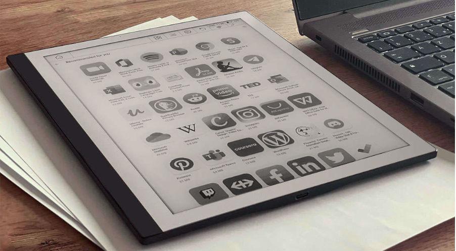 bookeen notea e ink kirjoitustablet android-ohjelmisto