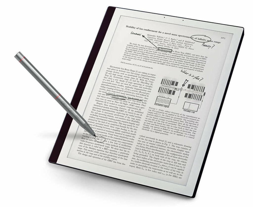 bookeen notea kirjoitustablet ja kynä