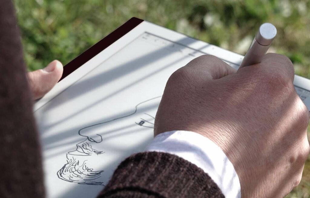 bookeen notea kynä kirjoittamiseen ja piirtämiseen