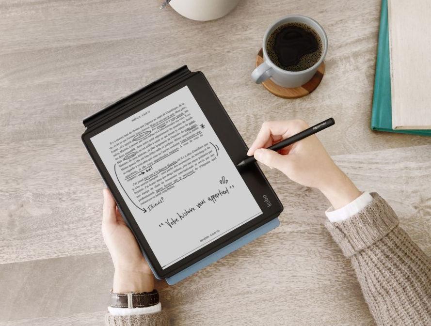 kobo elipsa lukulaitteen näytölle voi kirjoittaa ja piirtää kynällä
