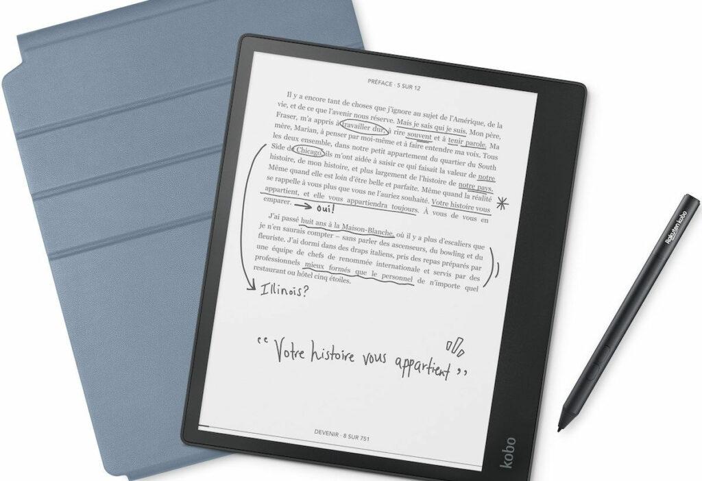 kobo elipsa kirjoitustablet, kynä ja kannet