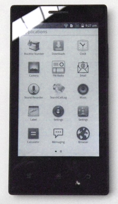 Onyx ereader smartphone with E ink display